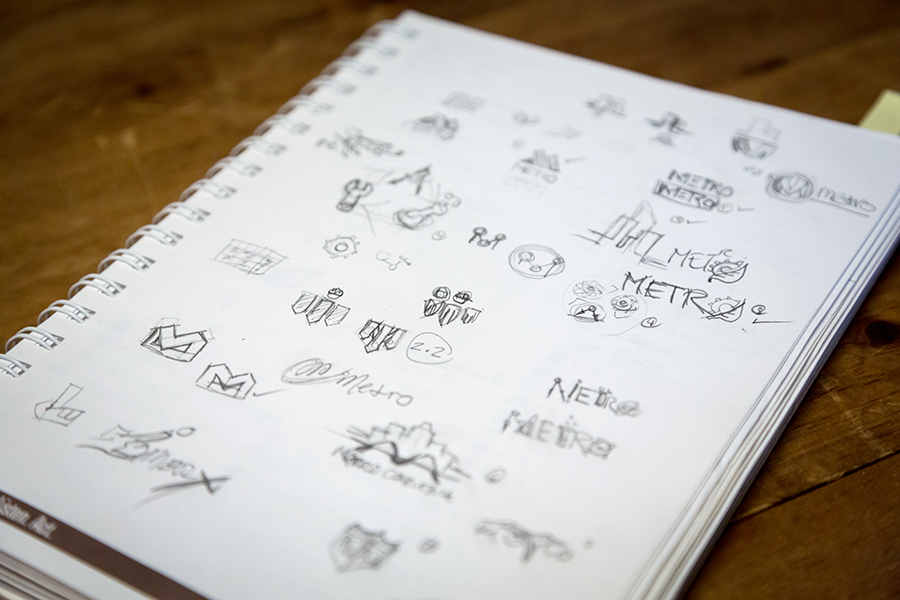 How to design a logo - Initial Rough Sketches