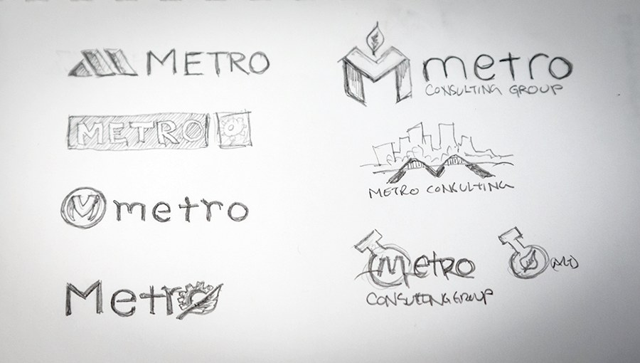 How to design a logo - Refined Sketches