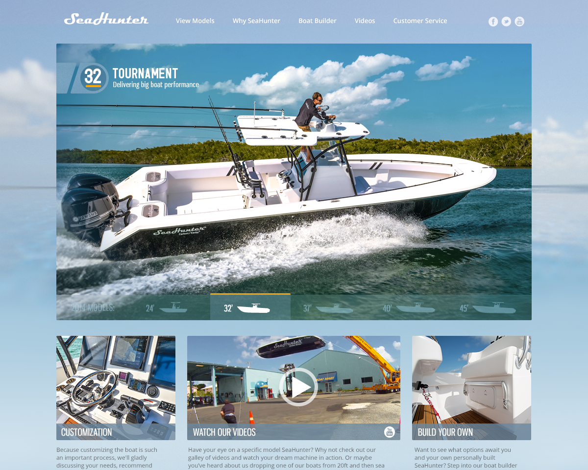 Seahunter Website