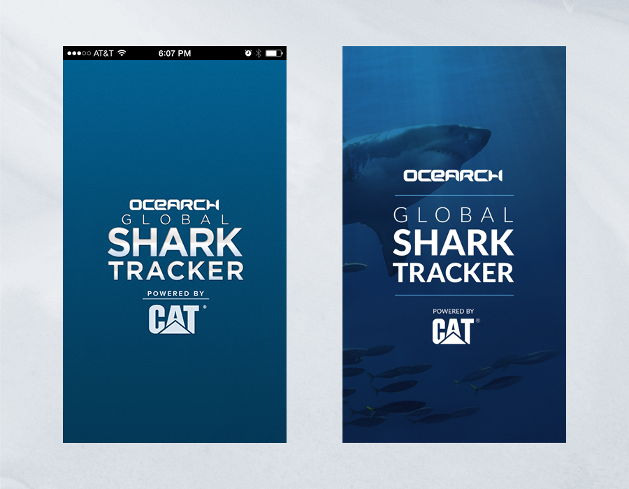 Shark Tracker iOS App - Comparison of Splash Page
